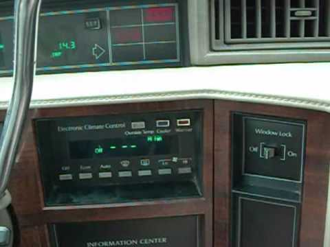 1992 cadillac deville trouble codes reading - YouTube