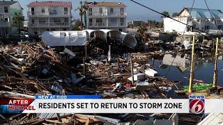 Panhandle residents return home to devastated neighborhoods