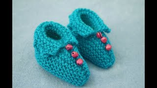 Knitting Beautiful Booties for 1-6 Months Baby