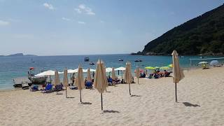 Lichnos beach near Parga in 4K. Summer 2018