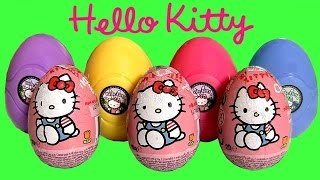 Play Doh Hello Kitty Surprise Eggs Huevos Surpresa  ハローキティ   キティ・ホワイト  playdough by FunToys