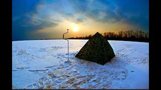 зимняя рыбалка в палатке