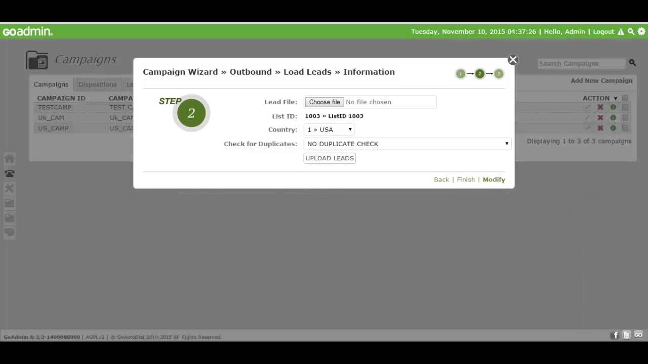 How to Setup Goautodial(Vicidial) OutBound Campaign