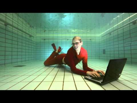 #111 checking emails under water
