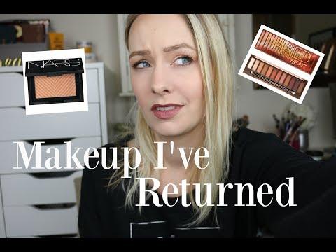 Makeup Products That I've Returned