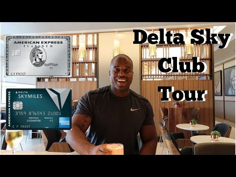 Delta Sky Club Tour | Airport Lounge | AMEX Platinum/Delta Reserve