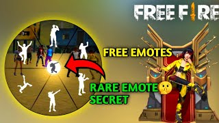 FREE FIRE:-HOW TO GET FREE EMOTES IN FREE FIRE FREE FIRE TRICK 100%PROOF