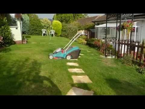 The Bosch 36 volt lawn mower after 7 years use.