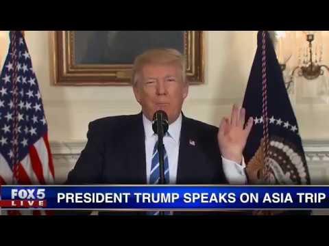 President Trump discusses Asia trip