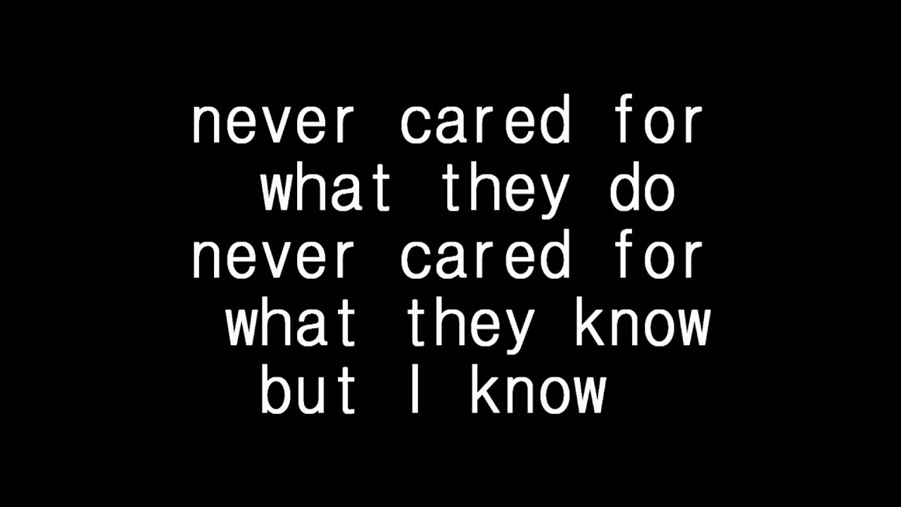 Metallica - Nothing else matter lyrics - YouTube