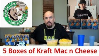 5 boxes of Kraft Mac N Cheese - faster than Matt Stonie or Brandon Da Garbage Disposal?