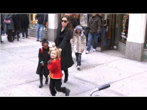 Shiloh Jolie-Pitt Leads Angelina Jolie During a Family Outing