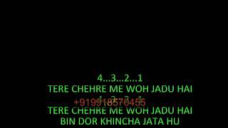 Tere Chehre Mein Woh Jaadu Hai Karaoke | Kishore Kumar