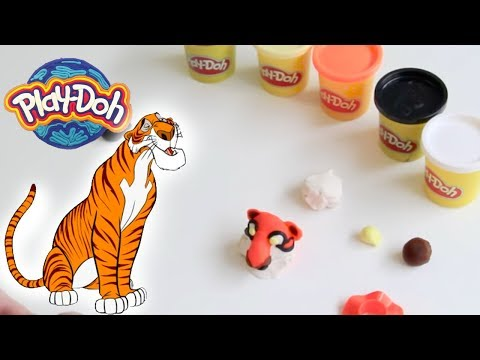 PLAY DOH | Create a Jungle Book Tiger | Shere Khan Character | Crafty Kids