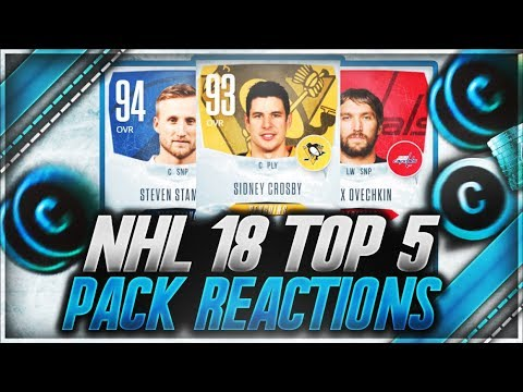 NHL 18 HUT - 'TOP 5 PACK REACTIONS OF THE WEEK' (INSANE ICEY EDITION)