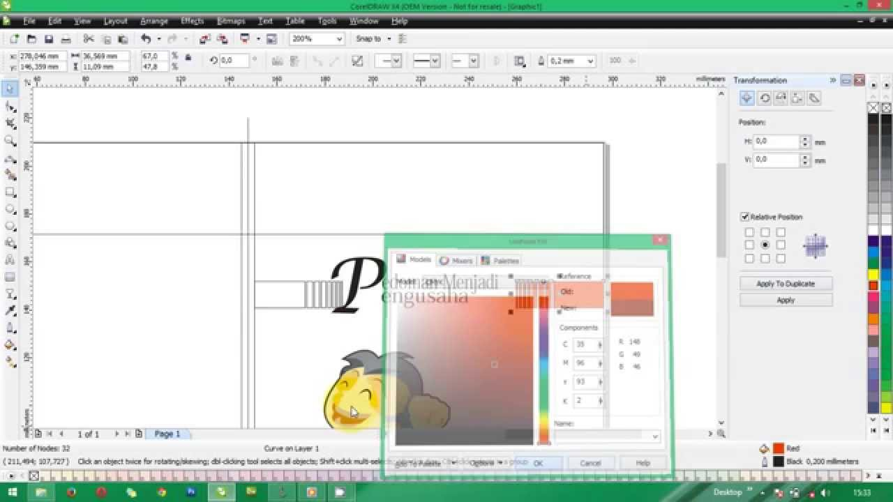 How To Make A Book In Coreldraw : How to make cover book with coreldraw youtube