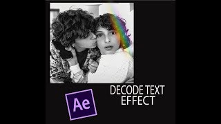 decode text | after effects tutorial