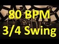Download 80 BPM - Swing 3/4 - 60s Ballad - Drum track - Metronome MP3 song and Music Video