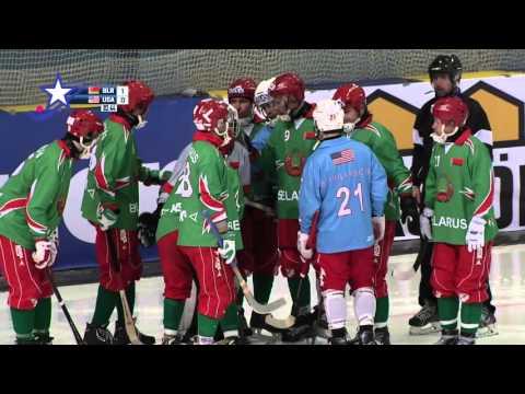 USA Bandy VS Belarus 2016 Bandy VM
