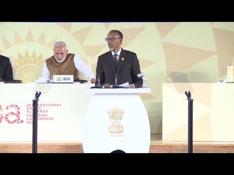 President Kagame delivers remarks at the International Solar Alliance (ISA) Founding Conference