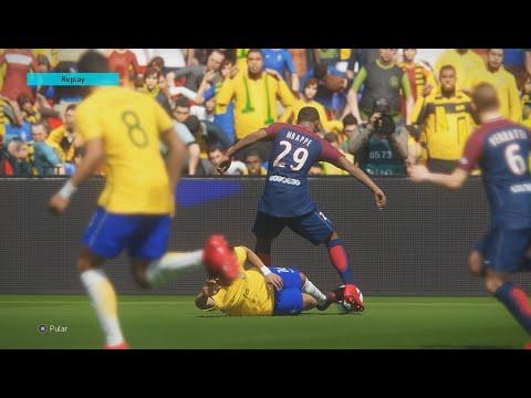 PES 18 - Brasil vs PSG - MODO LENDA - Gameplay pedido por inscritos - Emirates Stadium