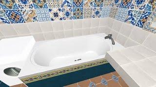 видео 3d плитка для ванной море