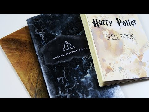DIY Harry Potter Insert/Notebook ~ Process