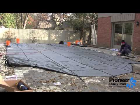 Inground Safety Cover Installation from Pioneer Family Pools