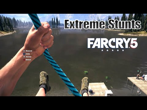 FAR CRY 5 INSANE STUNTS MONTAGE |WINGSUIT AND CLIFFJUMPING (TOMBSTONING)