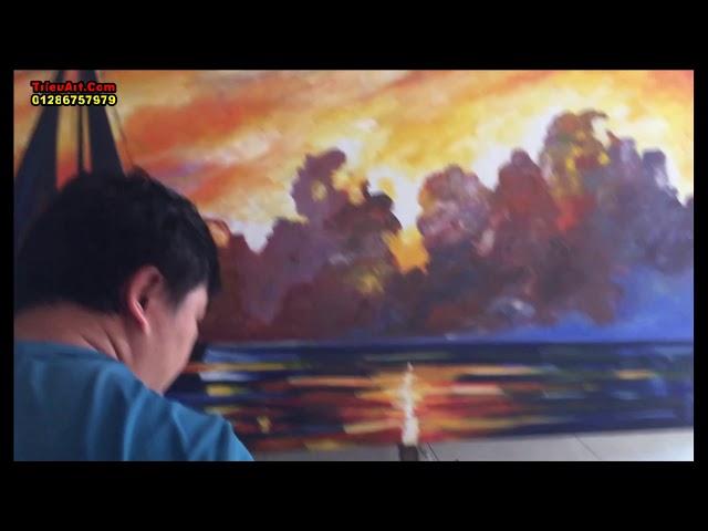 Vẽ tranh sơn dầu đắp bay TrieuArt.Com ĐT, Zalo,viber: 0128 675 7979