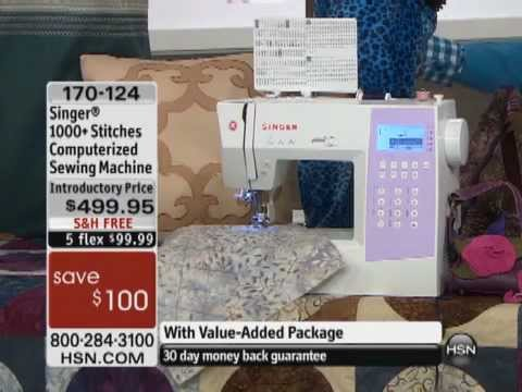 Singer 40 Stitches Computerized Sewing Machine YouTube Stunning Hsn Com Singer Sewing Machines
