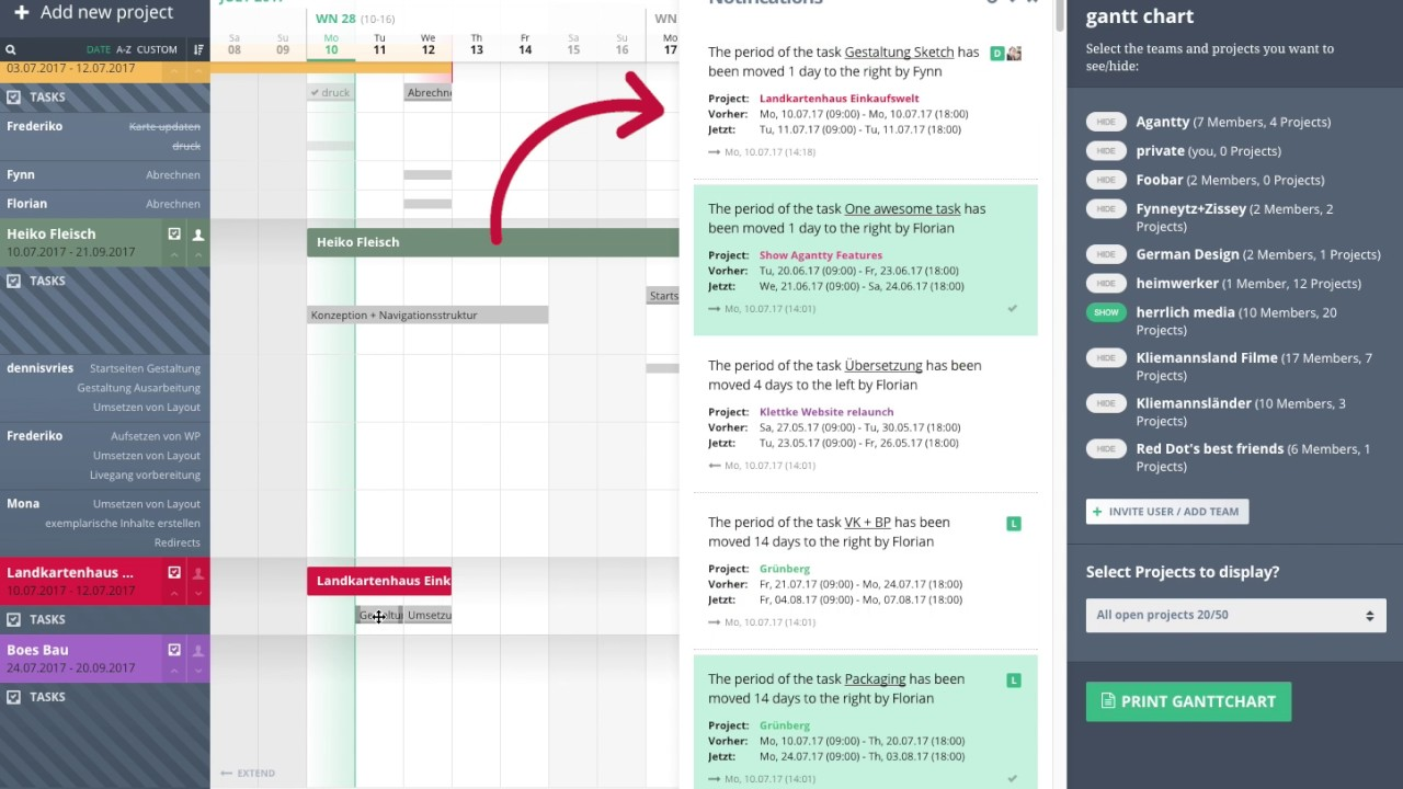 Agantty agantty projectmanagement notifications / activitylog