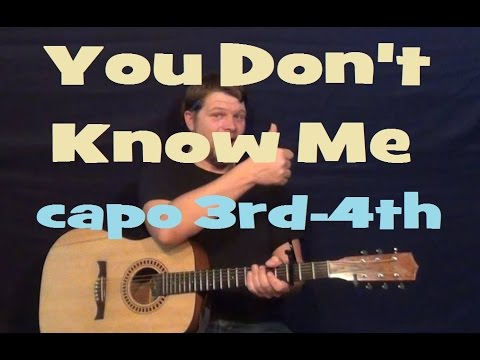 You Don\'t Know Me (Eddy Arnold) Guitar Lesson Easy Strum Chords How ...