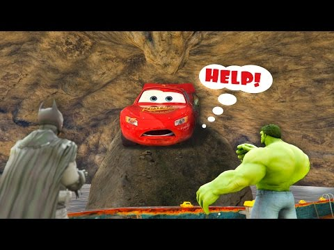 Thumbnail: LIGHTNING McQueen Trapped in water cave by Joker and Venom! Cartoon for children
