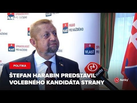 Štefan Harabin Predstavil Volebného Kandidáta Strany VLASŤ
