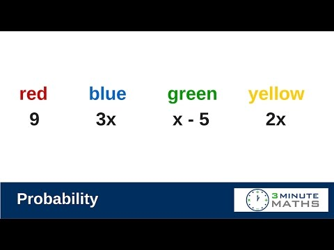 How to work out a probability - new GCSE AQA Sample Question