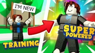 How I Trained To Become OVERPOWERED In Roblox Power Simulator!