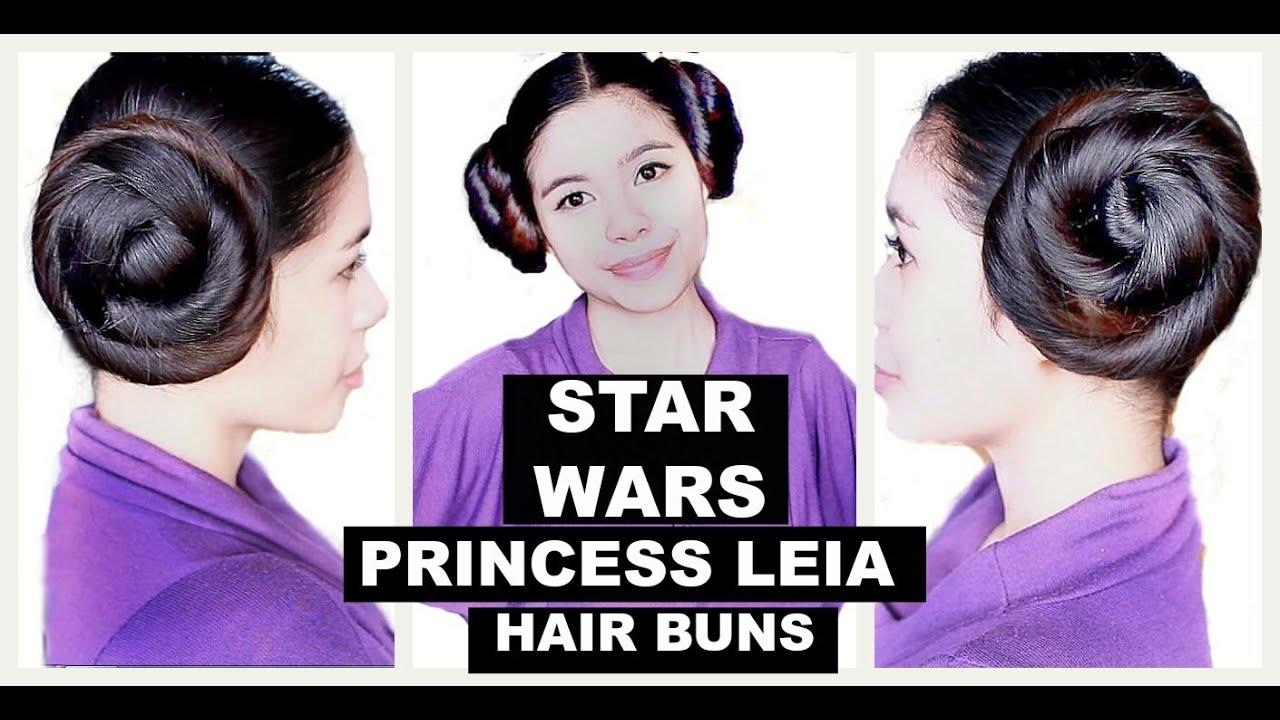 star wars -princess leia hair buns-inspired hair tutorial