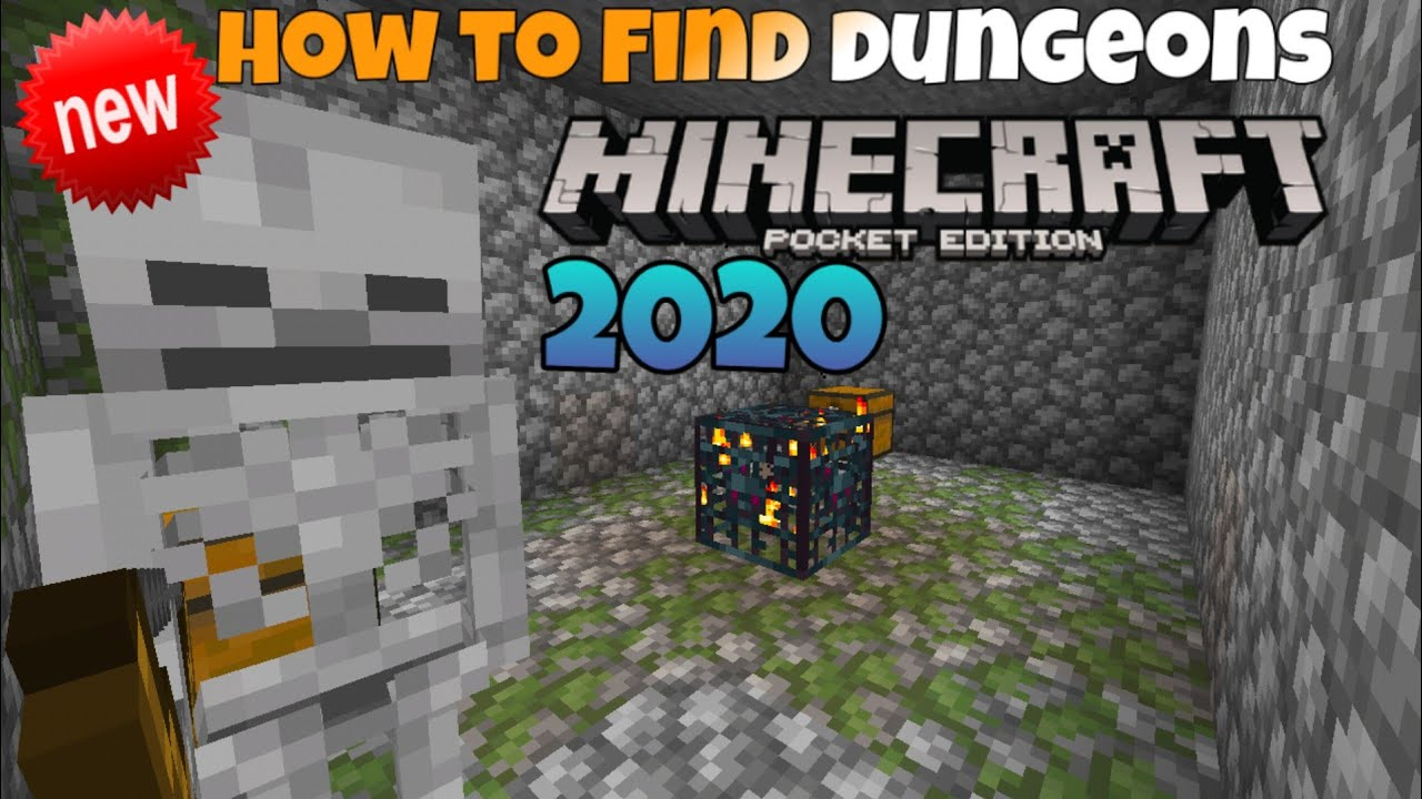 How To Find Dungeons In Minecraft Minecraft Pocket Edition Tutorial 2020 Android Ios Youtube
