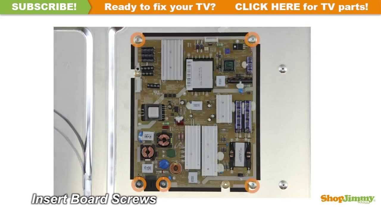 Samsung TV Repair  How to Replace BN4400424A Power Supply Board  How to Fix LED TVs  YouTube