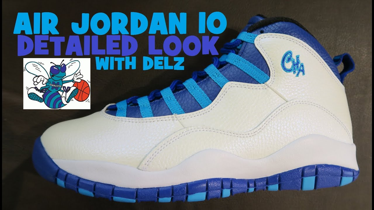 7643ad6fde26b6 Air Jordan 10 Charlotte Hornets Retro Sneaker Detailed Look Review ...