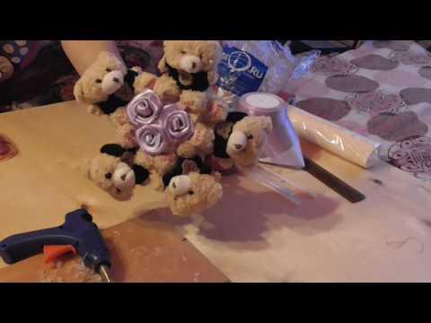 Как просто и недорого сделать букет из игрушек