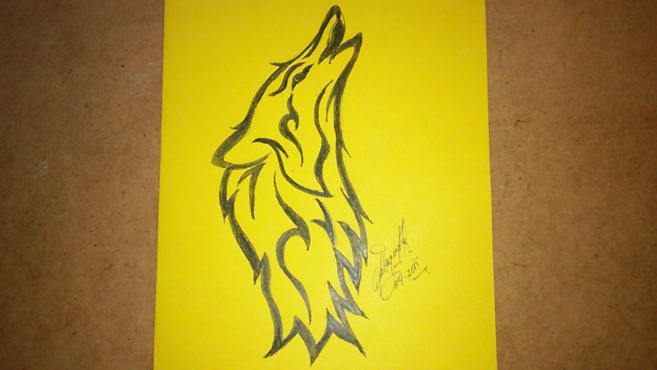Como Dibujar Un Lobo Para Hacer Tatuaje How To Draw A Wolf To