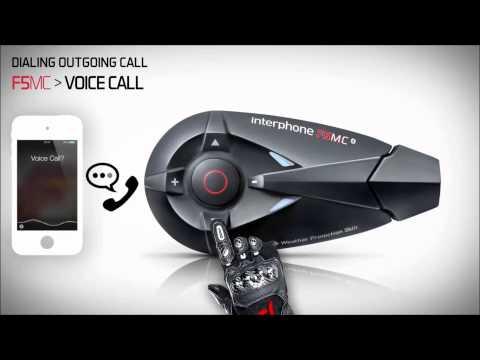 Interphone F5MC Phone GPS Video Tutorial on www.HondaBikes.gr