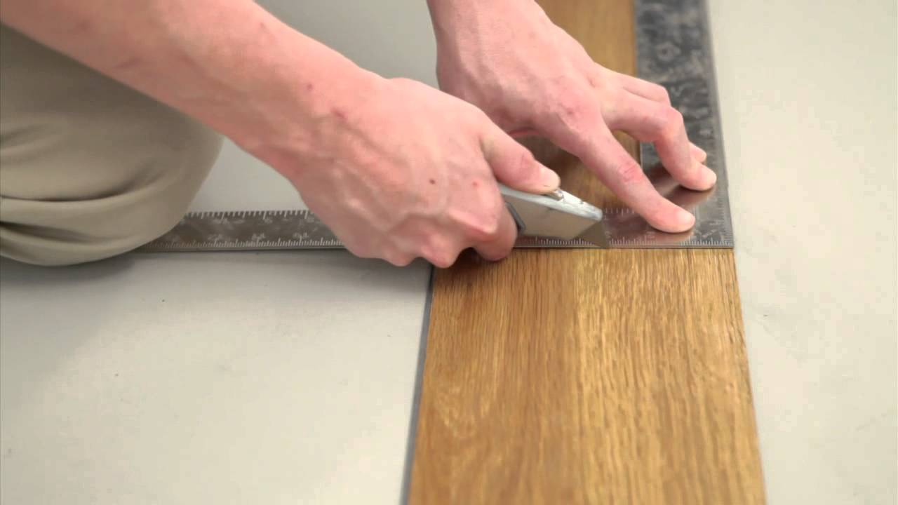STAINMASTER Locking Luxury Vinyl Floor Installation YouTube - What do you put under vinyl flooring