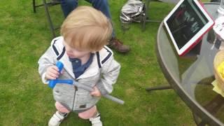Toddler performs to his idol