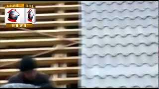 Шиферная крыша - монтаж укладка  покраска