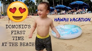 domonic-s-1st-time-at-the-beach-hawaii-vacation