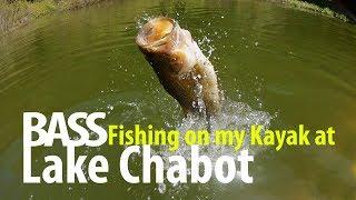 Bass Fishing on my Kayak at Lake Chabot.