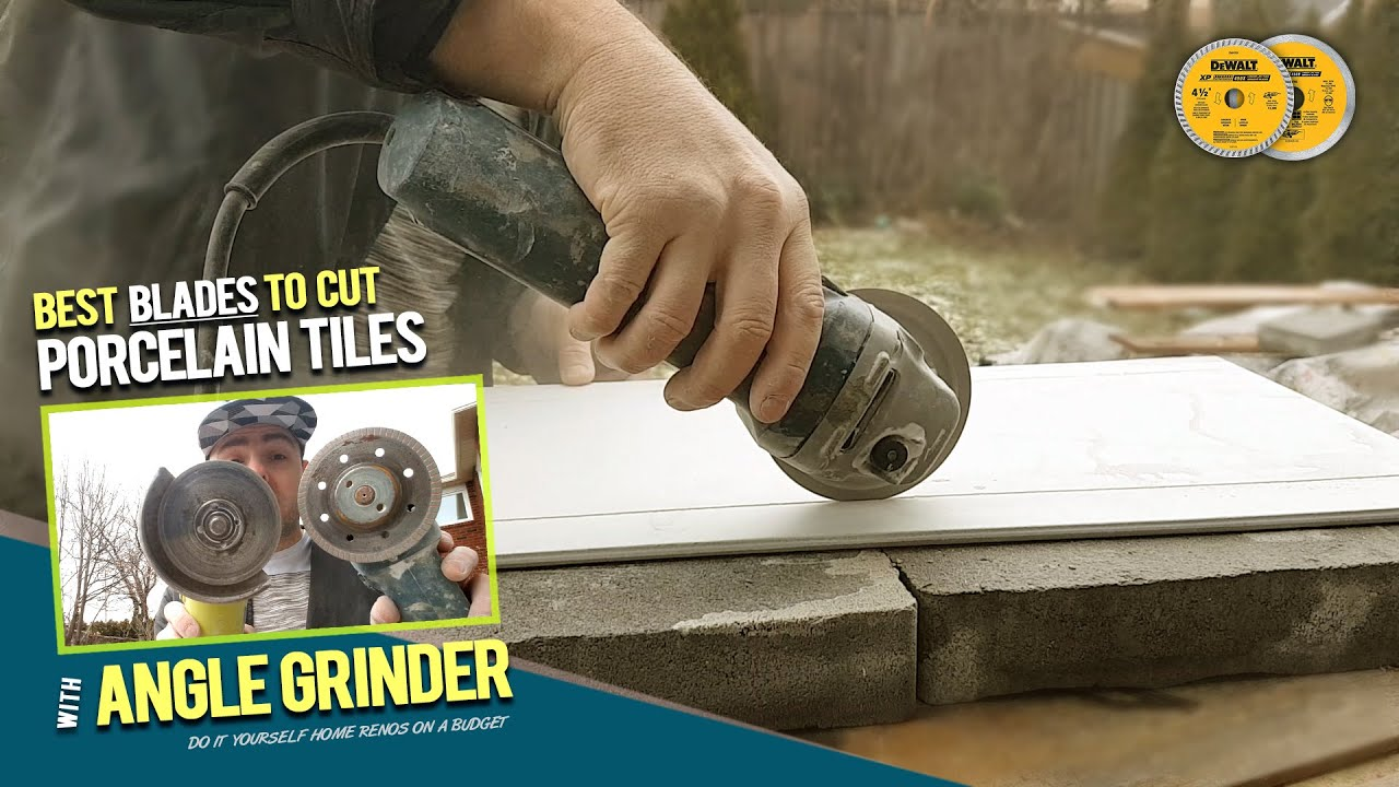 How To Cut Porcelain Tiles by Hand with Grinder without Chipping. Testing  Diamond Blades 5 Tiling